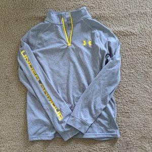 Under Armour boys 1/4 zip lightweight pullover EUC